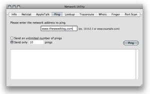 Mac Network Utility Ping