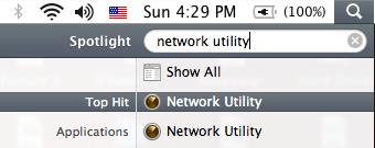 Mac Network Utility