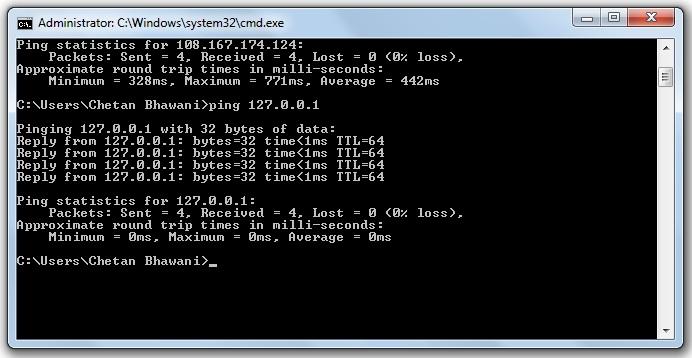 Ping IP Address Windows