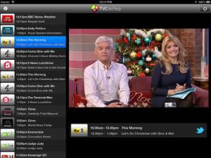 TVCatchup App iPad