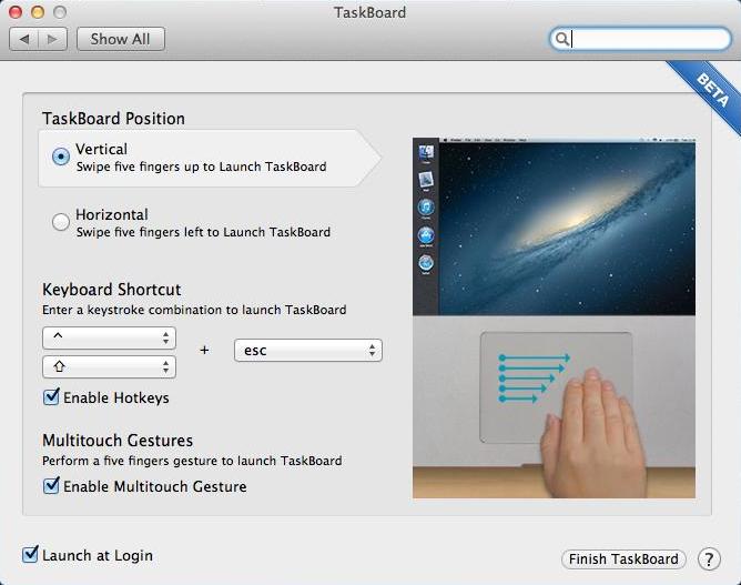 Taskboard Settings