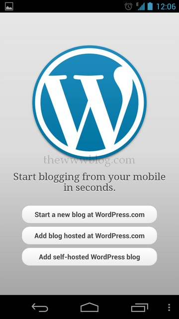 Wordpress Android App Start