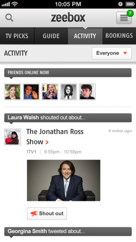 Zeebox App for iPhone