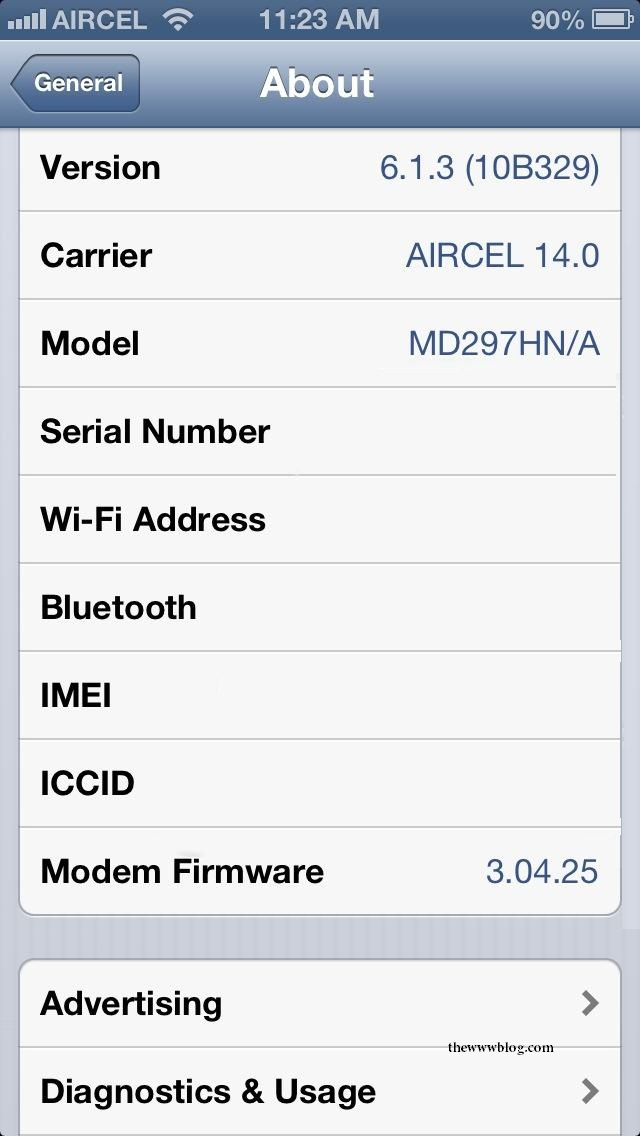iPhone Details IMEI ICCID