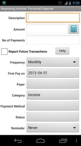 Expense Manager Android App Payments
