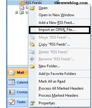 Import OPML File Outlook