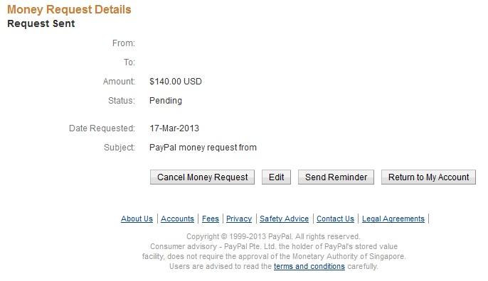 Paypal Request Details 5