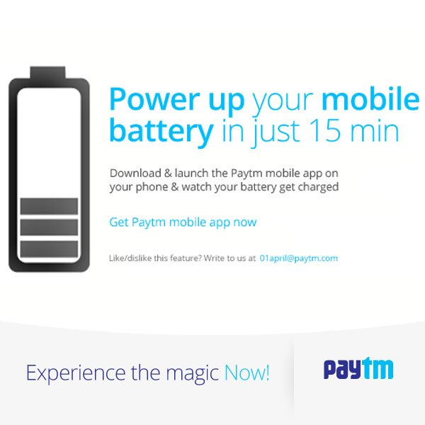 Paytm Battery Charge