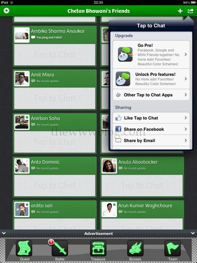 Tap to Chat iPad App Extra