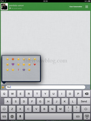 Tap to Chat iPad App Smileys