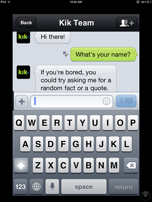 Kik messenger chat