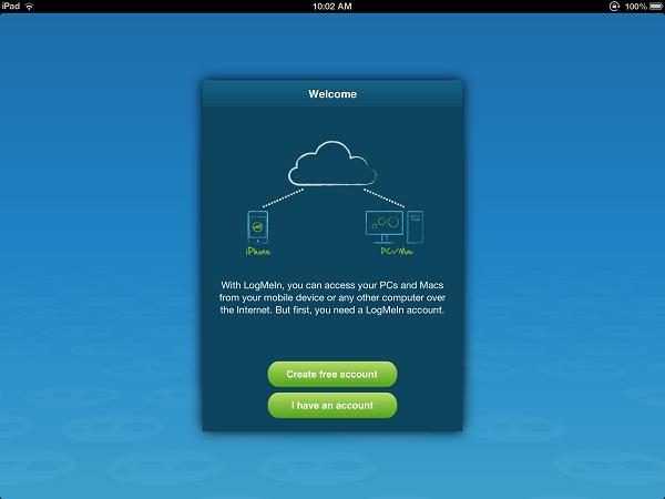LogMeIn App iPad