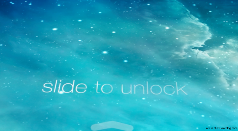 Apple iOS 7 Unlock Screen