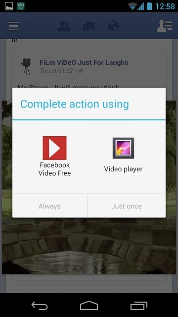 Facebook Video Complete Action