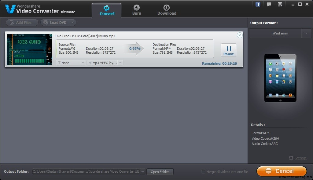 Wondershare Video Converter Ultimate Converting