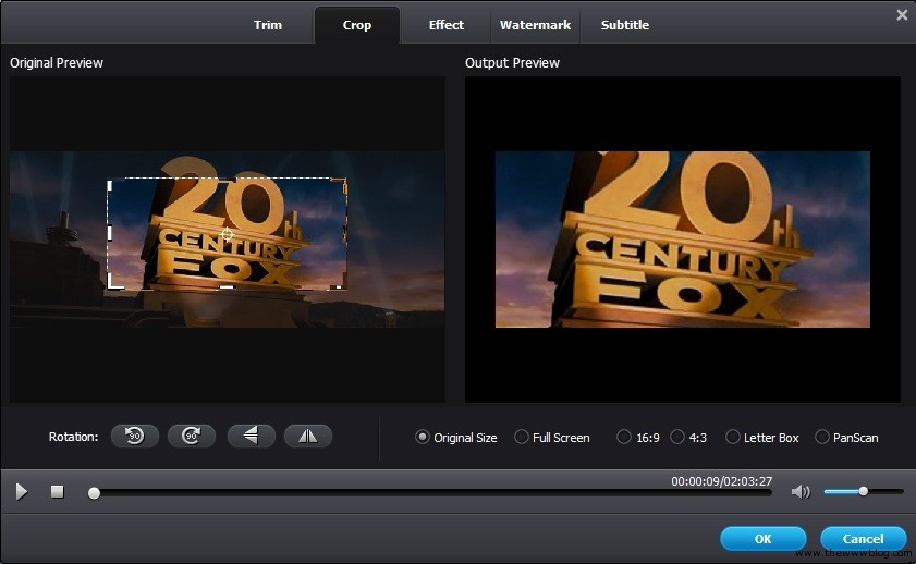 Wondershare Video Converter Ultimate Crop