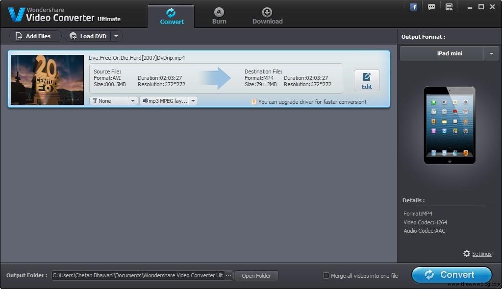 Wondershare Video Converter Ultimate File