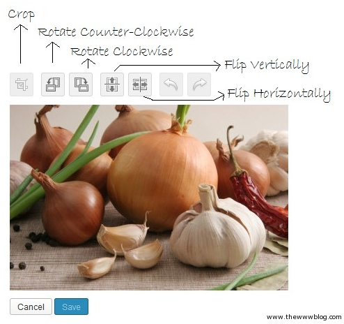 Wordpress Image Editor Options