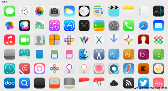 Download Icon Pack for Mac OS X for a Design like iOS 7
