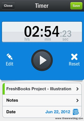 Freshbooks Project