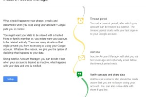 "Setup Google Account for Sharing / Deletion after Death or Inactivity – ""Inactive Account Manager"""