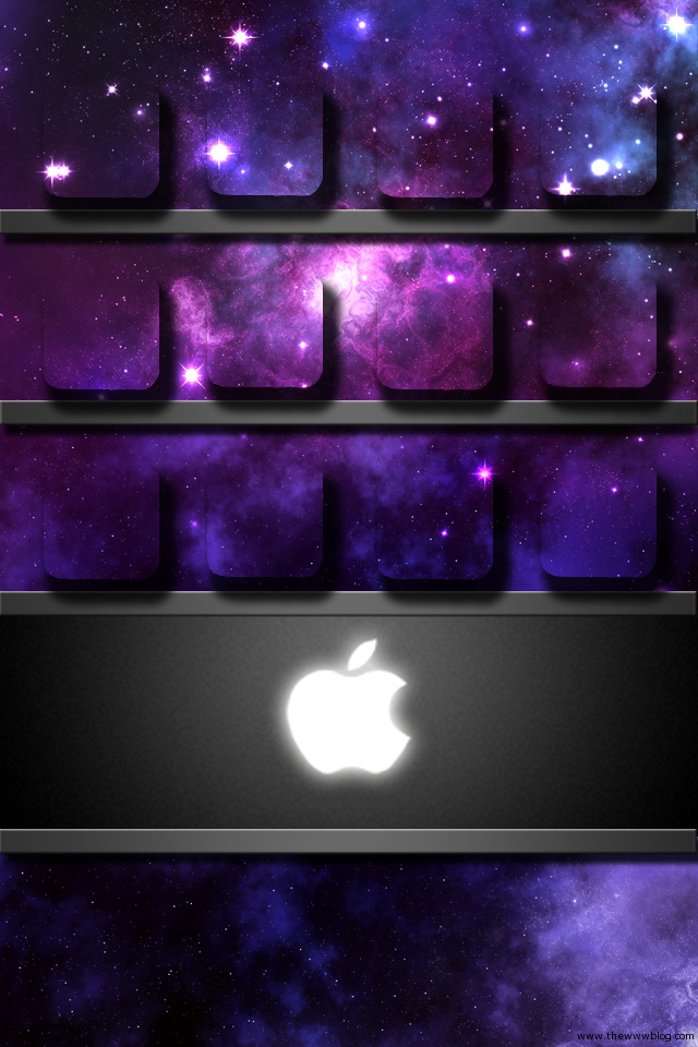 The www blog 15 awesome iphone shelf wallpapers for home for Wallpaper home screen iphone