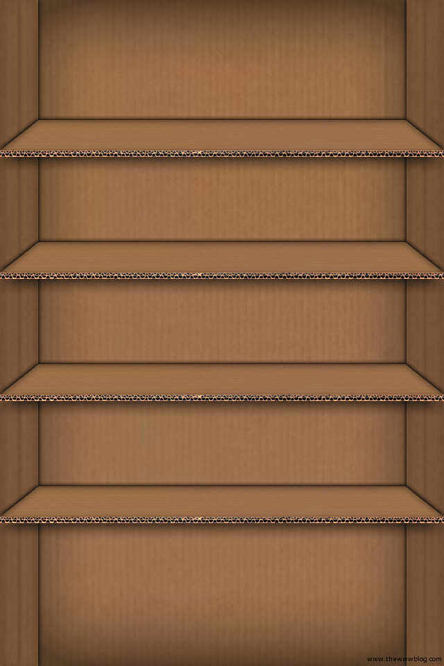 Cardboard Shelf iPhone Wallpaper