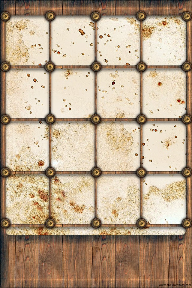 Grunge Shelf iPhone Wallpaper