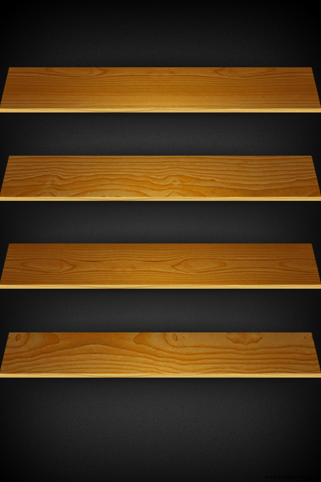 Light Wooden board shelves iPhone wallpaper