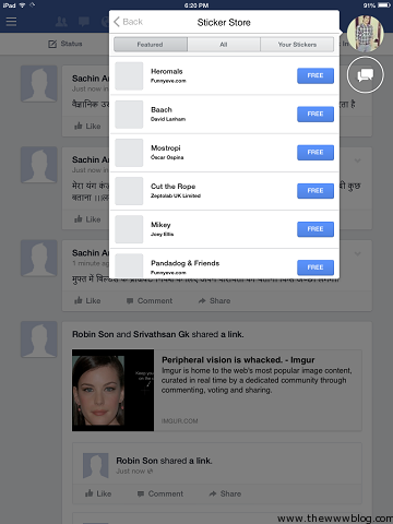 Facebook for iOS 7 Chat