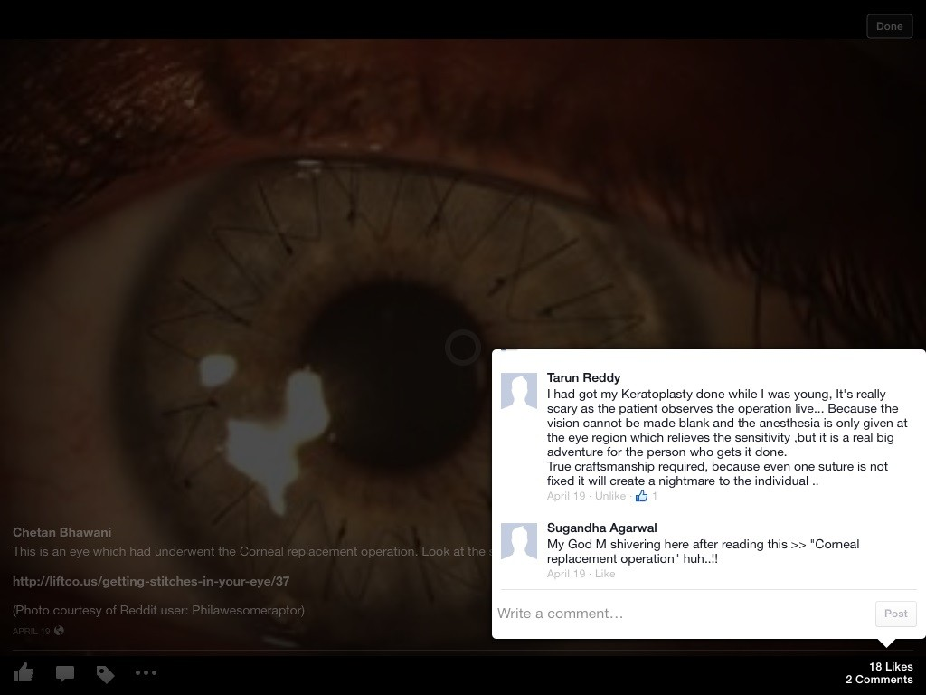 Facebook for iOS 7 Photo Preview