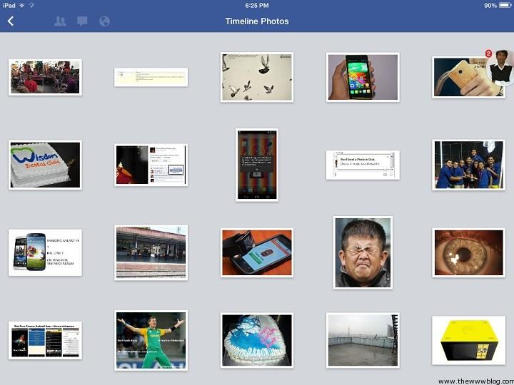 Facebook for iOS 7 Timeline Photos