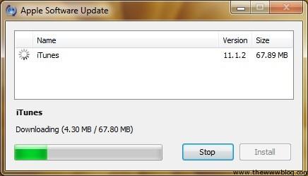 iTunes 11.1.2 Updating