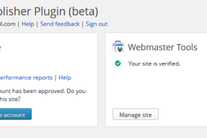Google Publisher Plugin (beta) for WordPress for Adsense and Google Webmaster Tools