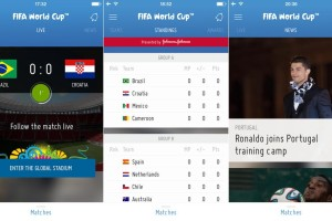 Check FIFA 2014 Live Scores on iPhone with Fifa World Cup 2014 App for iOS