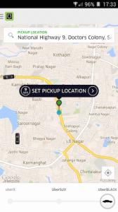 Uber Pickup Location