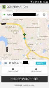 Uber Request Pickup