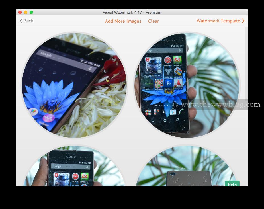 Visual Watermark Selected Photos
