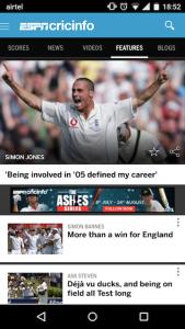 ESPNCricinfo Android App 2